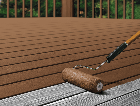 Painting Vs Staining A Deck In 2020 Staining Deck Solid Stain Deck Painted Deck Floors