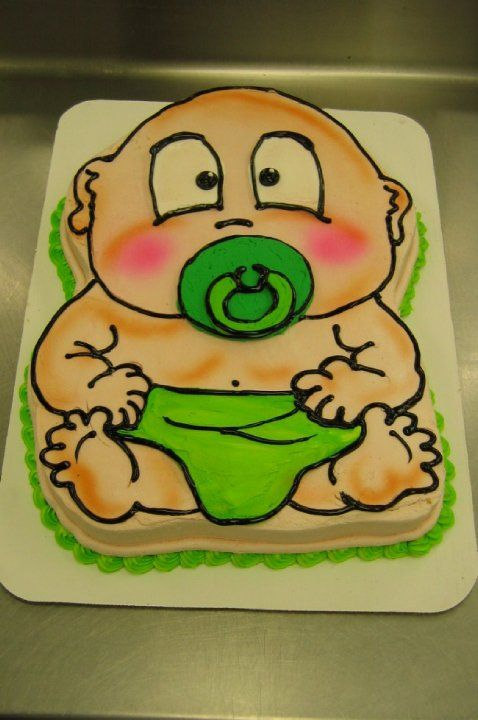 Baby Shower Baby Cutout Cake by Stephanie Dillon LS1 HyVee
