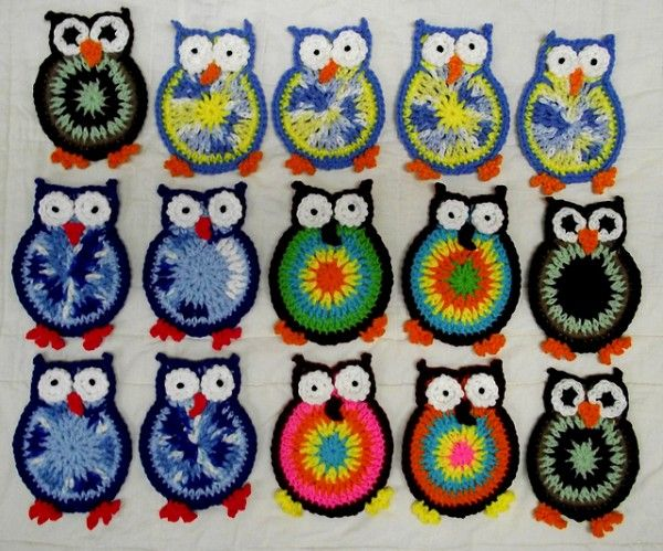 20 Super Cute Crochet Knitted Owl Patterns Free Pattern Coasters