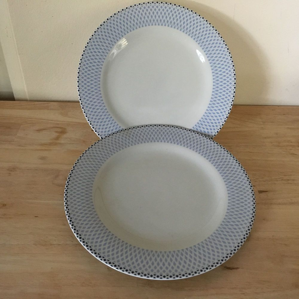 Two (2) Royal Worcester Salad Plates Azure Pattern New Still have Tag remnants & Two (2) Royal Worcester Salad Plates Azure Pattern New Still have ...