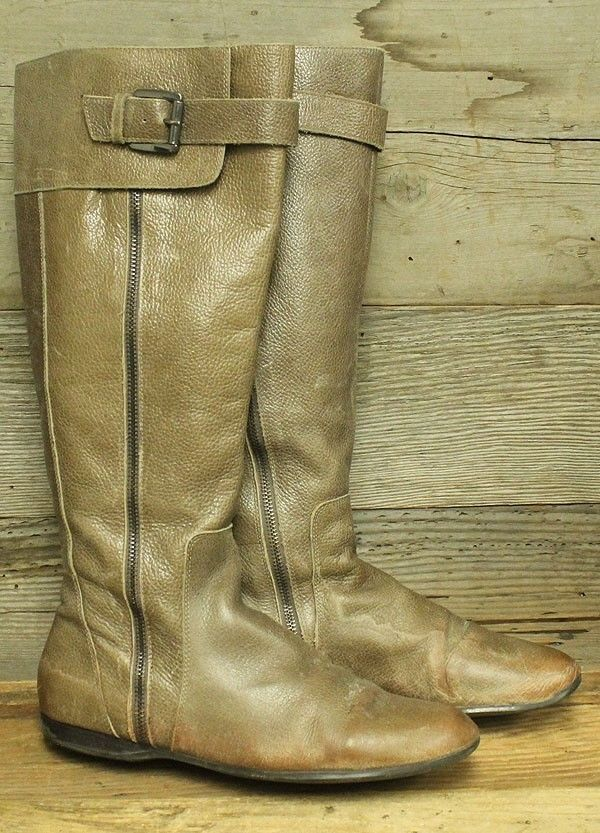 ENZO ANGIOLINI ZAYRA WOMENS BROWN LEATHER SIDE ZIP BUCKLE RIDING BOOTS SZ  8.5M  fashion  clothing  shoes  accessories  womensshoes  boots (ebay link) 6038b60f664d