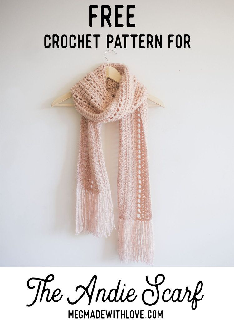 Free Crochet Pattern for The Andie Scarf | Tejido, Ganchillo y Chal