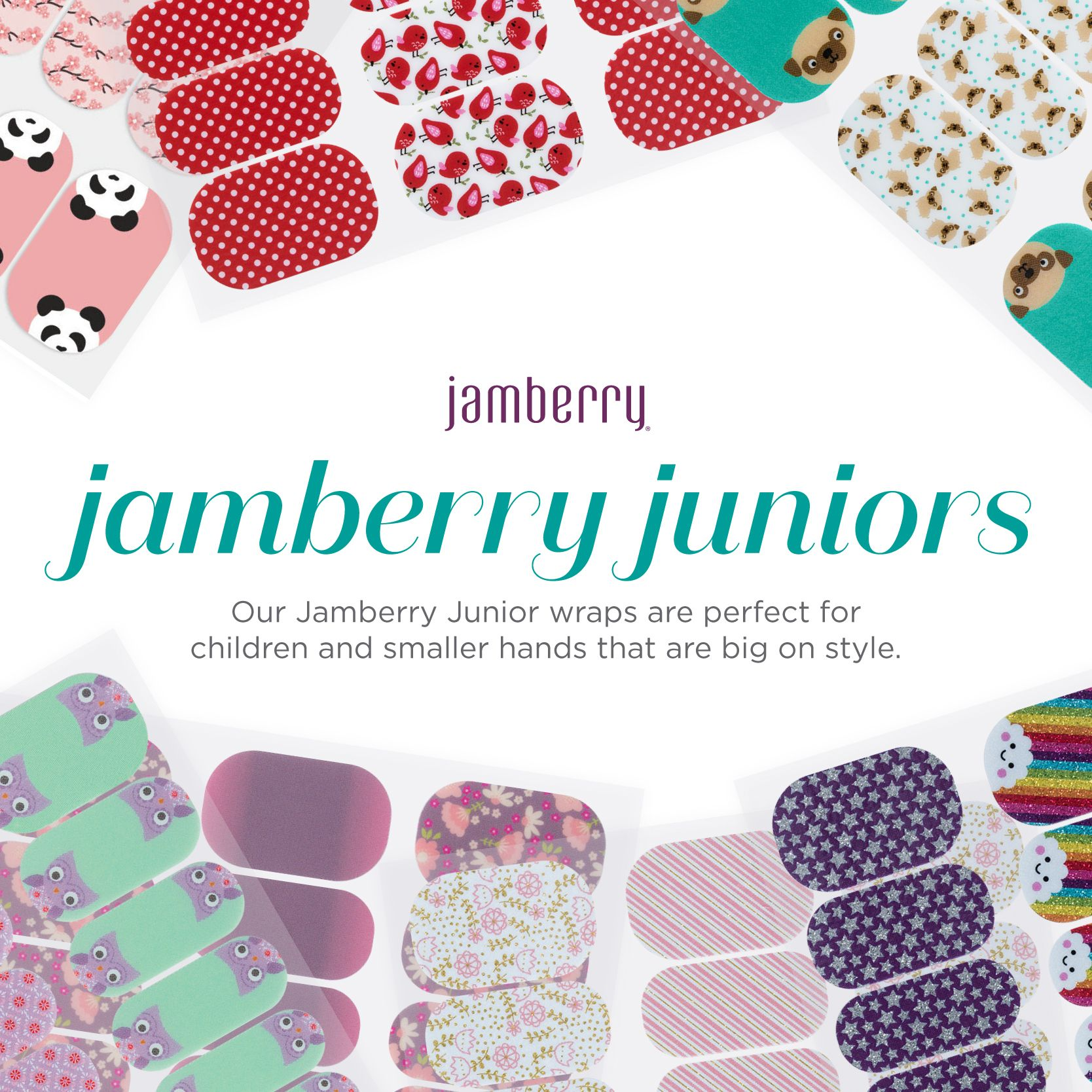 Jamberry Juniors collection of durable, easy to use, and so so cute ...