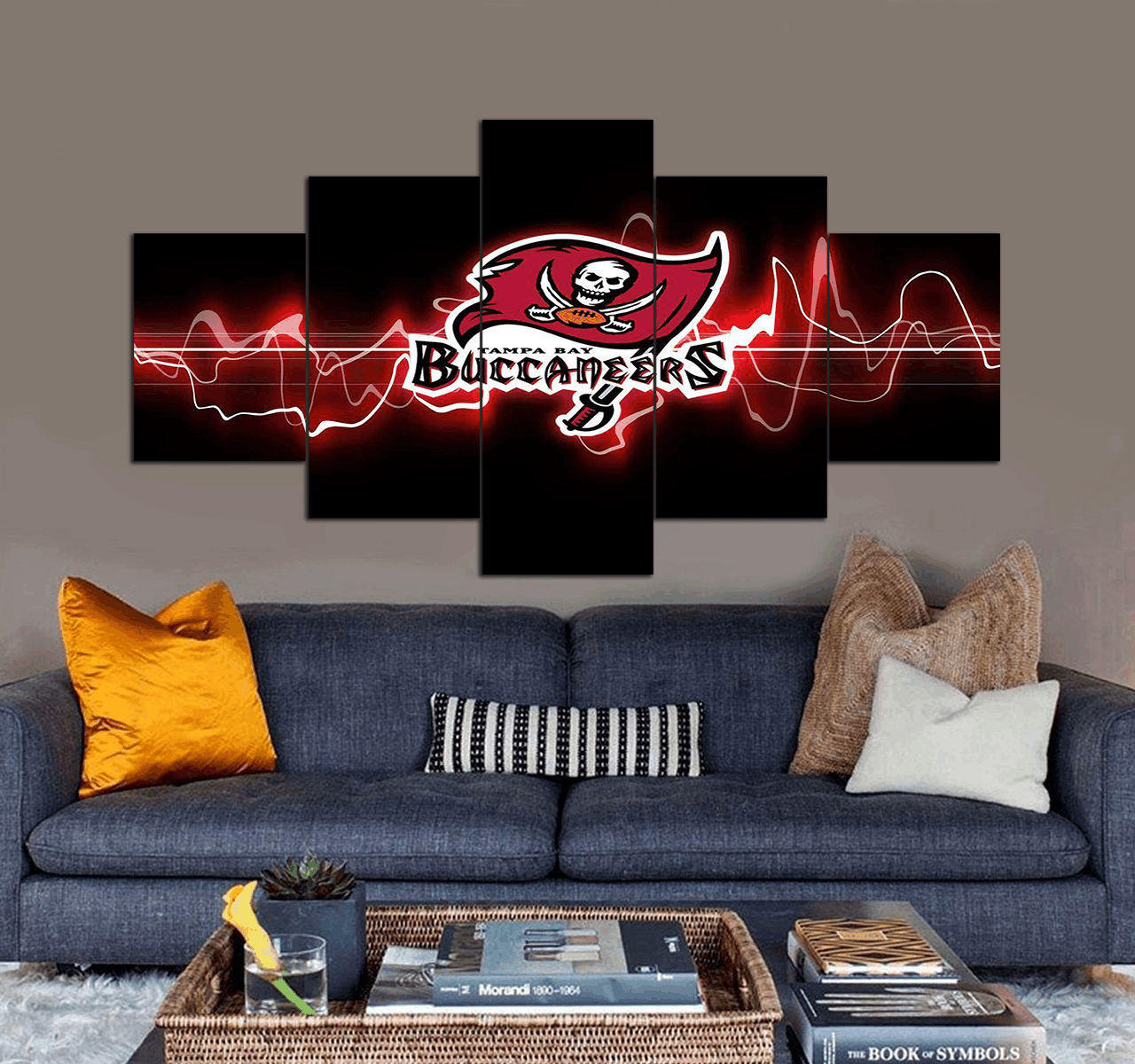 Tampa Bay Buccaneers Football Team Canvas Wall Art Decor 5 Piece Can In 2020 Canvas Art Wall Decor Canvas Wall Art Wall Art
