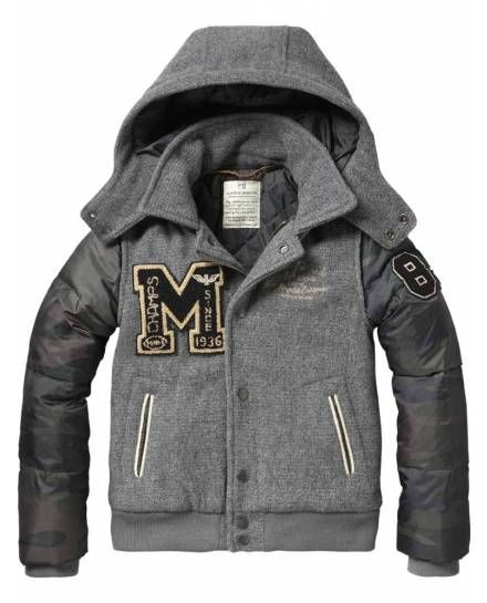 College jacket with embroideries - Jackets - Scotch & Soda Online Shop