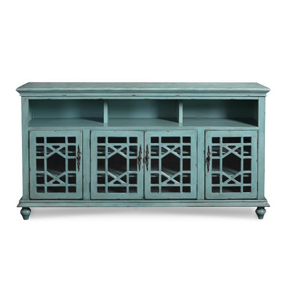 72 Inch Rustic Blue Tv Stand Blue Tv Stand Tv Stand Rustic Blue