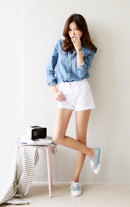 Itsmestyle Korean Fashion White High Waisted Shorts Korean Fashion Trends