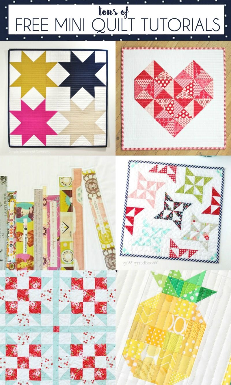 Free Mini Quilt Patterns | Gorgeous Quilting | Pinterest | Bordado ...