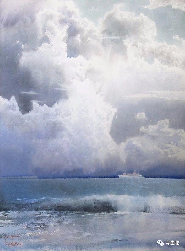 Epingle Par Michel Depeyre Sur Aquarelles Paysage D Eau
