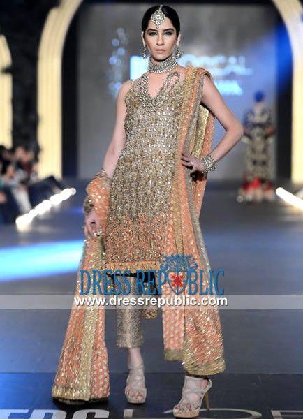 Burly Wood Jamawar Special Occasion Dress By Sana Safinaz Pfdc Beautiful Pakistani Dresses Evening Wear Dresses Indian Wedding Guest Dress,Wedding Pakistani Guest Velvet Dresses Pakistani 2019