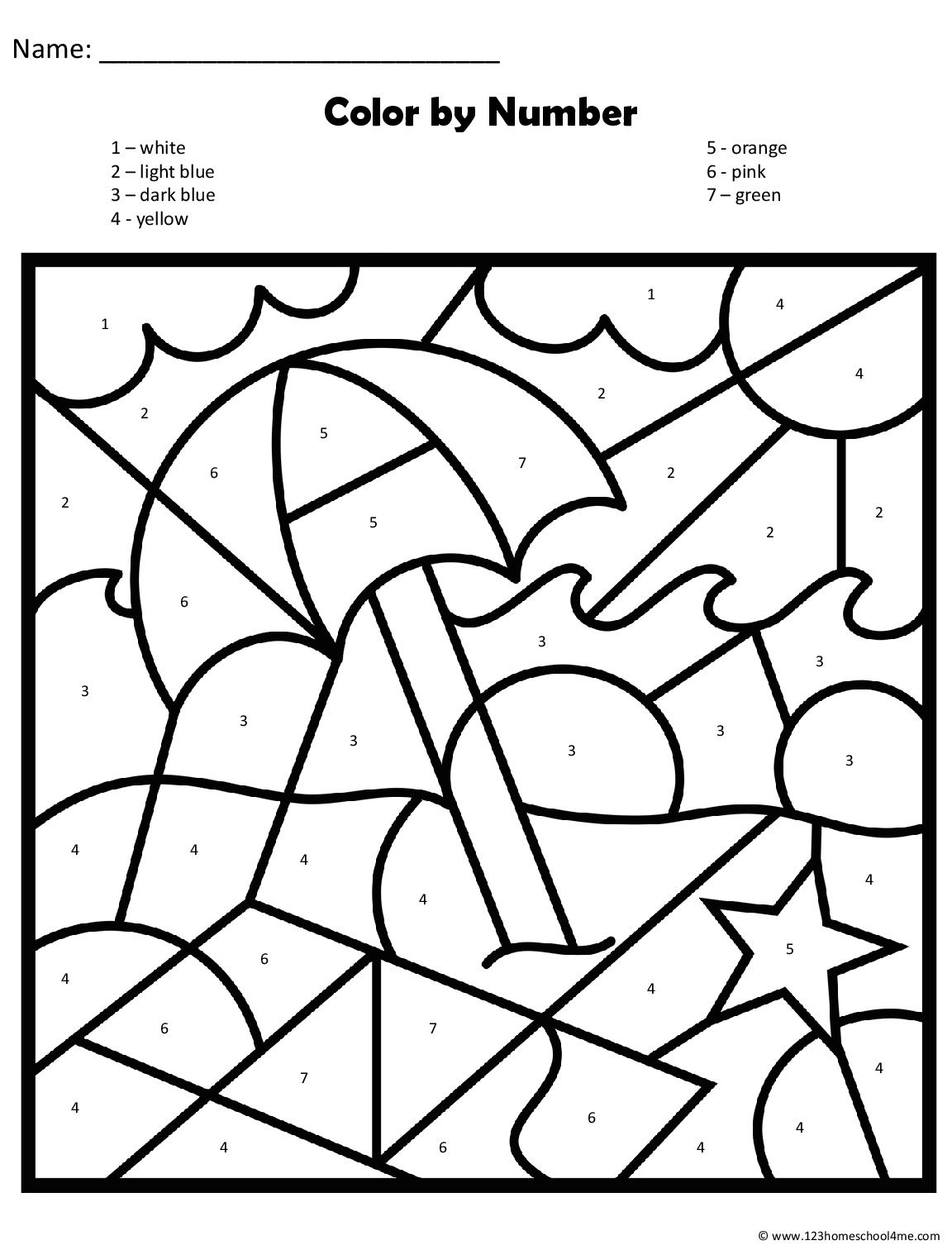 Cores Com Correspondem Ao Numero Drawing Lessons Math Projects Color By Numbers