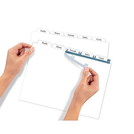 Avery(R) Index Maker(R) Clear Label Dividers 11446, White, 5