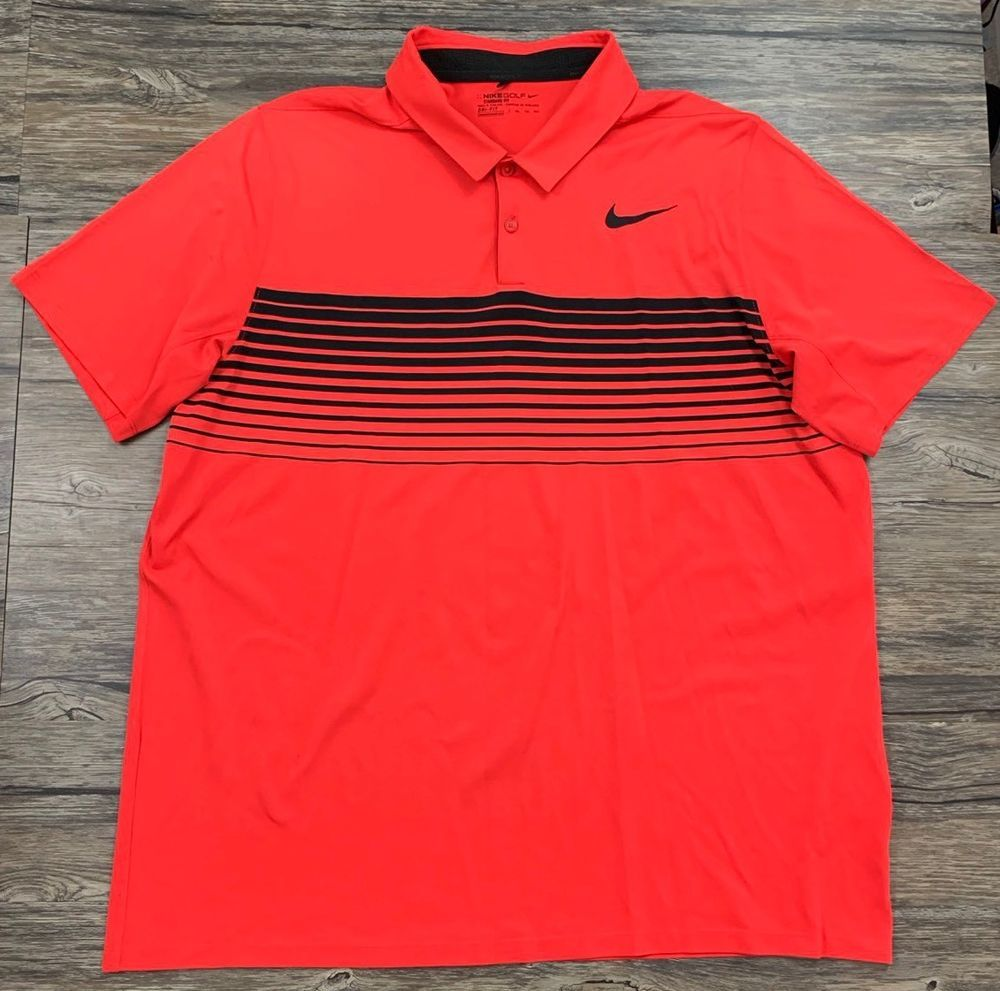d3d0ba7a Nike Men's Mobility Speed Stripe Golf Polo Max Red Short Sleeve Mens Sz  XXL* | eBay