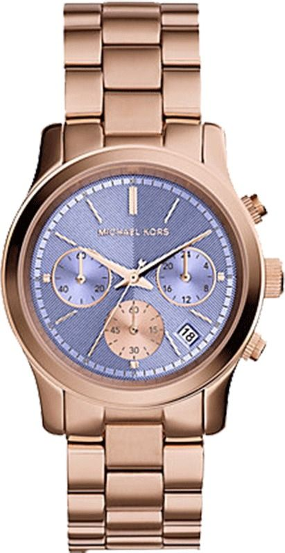 Michael Kors Watch Round Lavender Face Bracelet Watch Only Gold
