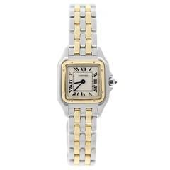 Cartier Lady's Yellow Gold Stainless Steel Panthere Quartz Wristwatch