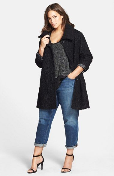 Eileen Fisher Coat, Tank & Boyfriend Jeans (Plus Size)