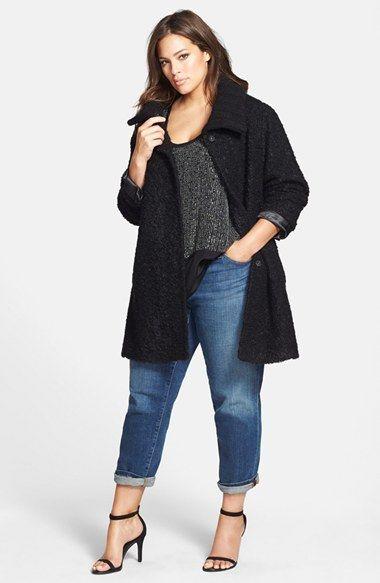 Eileen Fisher Coat, Tank & Boyfriend Jeans (Plus Size)