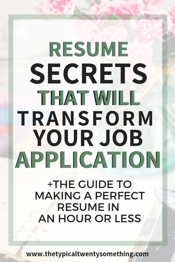 resume hacks that will get you in the door for your next