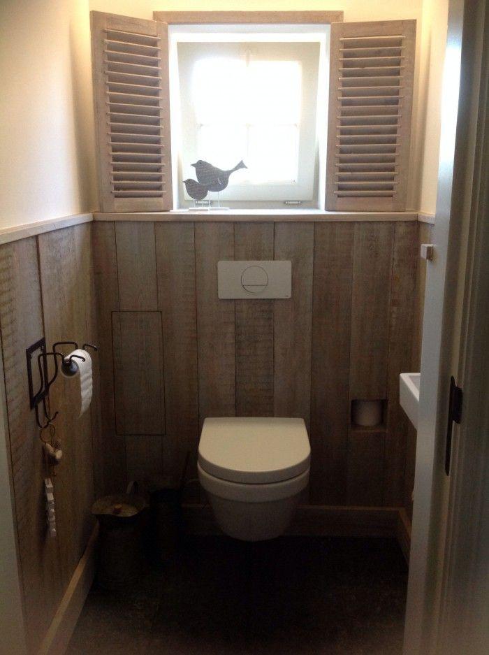 toilet in steigerhout einrichtungs ideen pinterest g ste wc haus ideen und umbau. Black Bedroom Furniture Sets. Home Design Ideas