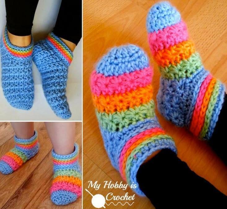 Wonderful diy crochet starlight slippers with free pattern crochet wonderful diy crochet starlight slippers with free pattern solutioingenieria Choice Image