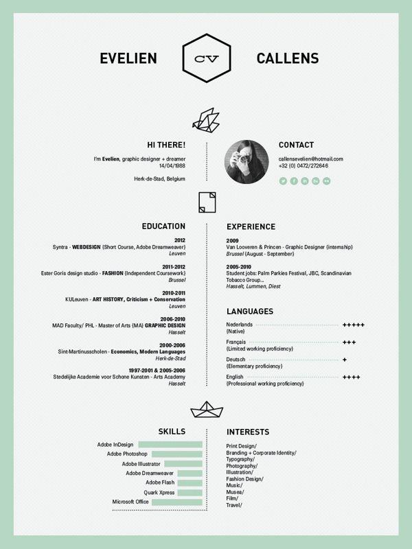 Pin Di Irene Kim Su Branding Curriculum Creativo Layout Cv Design Curriculum