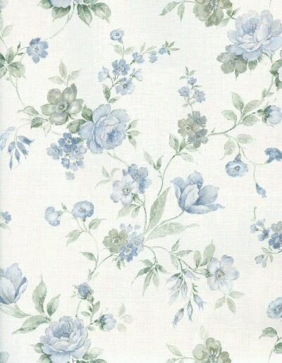 Blue Flowers Vintage Flowers Wallpaper Vintage Paper Background Paper Pattern Vintage