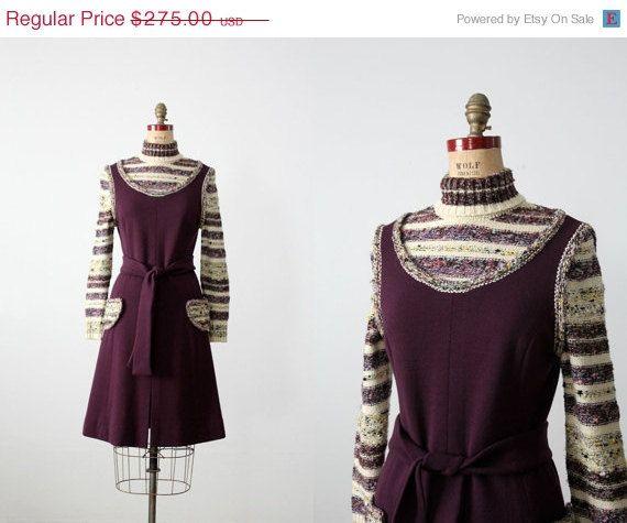 vintage 1970s knit dress /  Francesca for by 86Vintage86