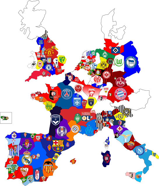 Map Of France Euro 2017 Stadiums.All European Soccer Team Map Logos European Soccer