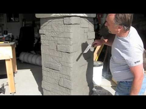 Decorative concrete used to create stone masonry also diyhomestead rh pinterest