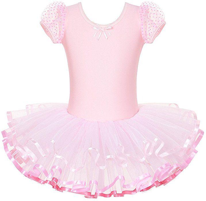 01c79c7ae3ae Amazon.com  BAOHULU Kids Leotards for Dance Short Sleeve Rhinestone ...
