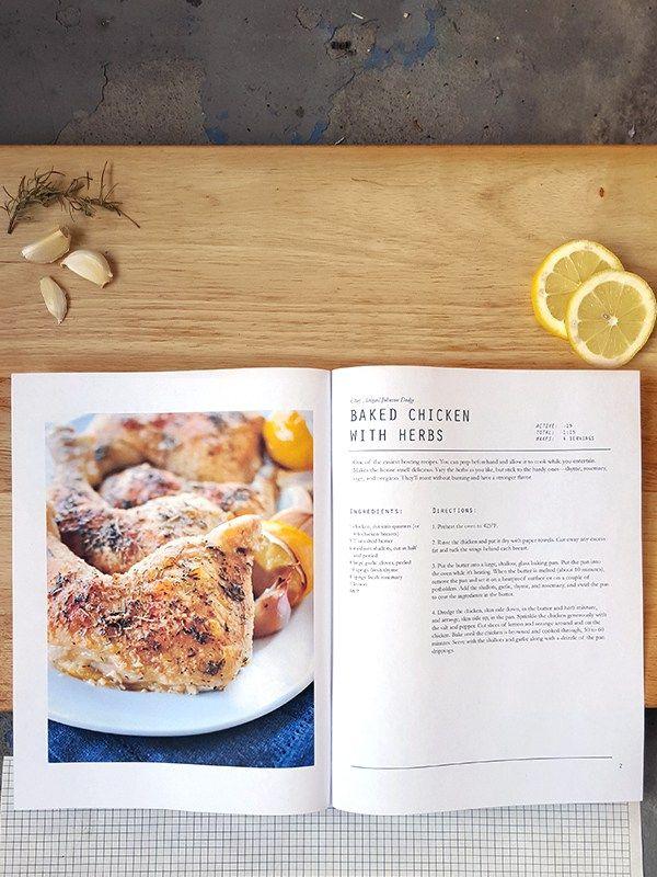recipes book template free