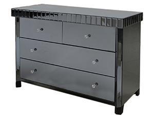 smoked mirrored furniture. Smoke Black Mirror 4 Drawer Chest - Modern Furniture And Lighting Smoked Mirrored S