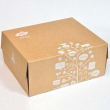 Small Plain Eco Friendly Natural Brown Kraft Paper Cardboard Box With Printing Corrugated Paper Box Carton Bakery Packaging Design Corrugated Paper Paper Box