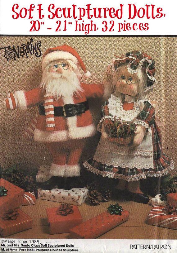 Christmas Santa Decor Sewing Pattern Vintage By Keepsakesstudio