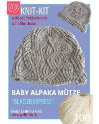 Strickpackung; Anleitung und Baby Alpaka Garn