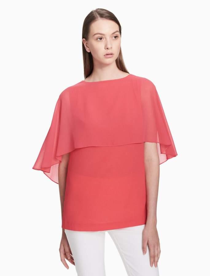 Calvin Klein chiffon sleeveless top. Calvin Klein chiffon sleeveless top Shirt  Blouses c59a1c0f305a
