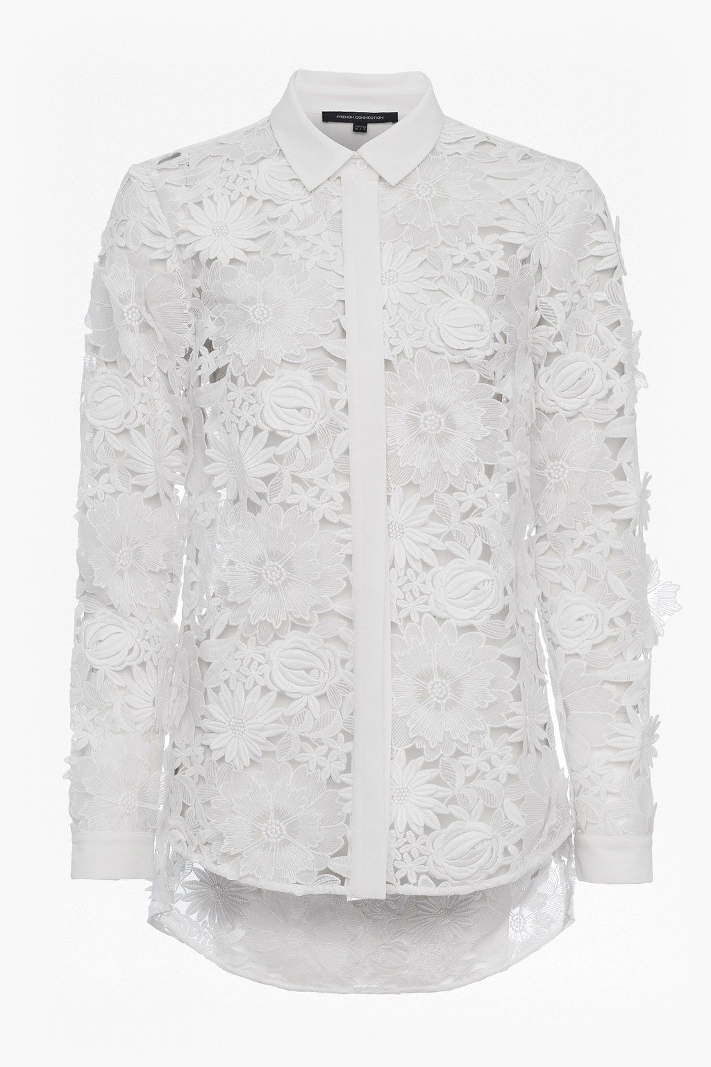 434e25ead6f4f Manzoni 3D Floral Lace Shirt | Sale | French Connection Usa | My ...