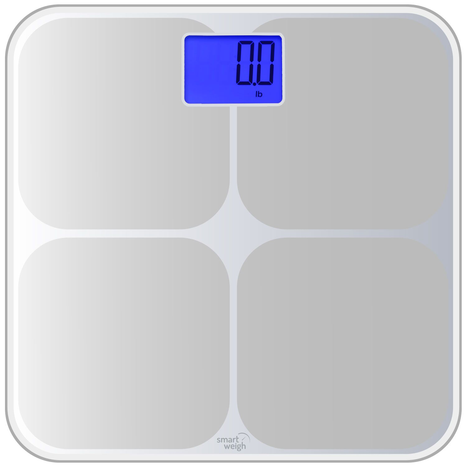 Savvy Sweeper Smart Weigh Bathroom Memory Scale Silver