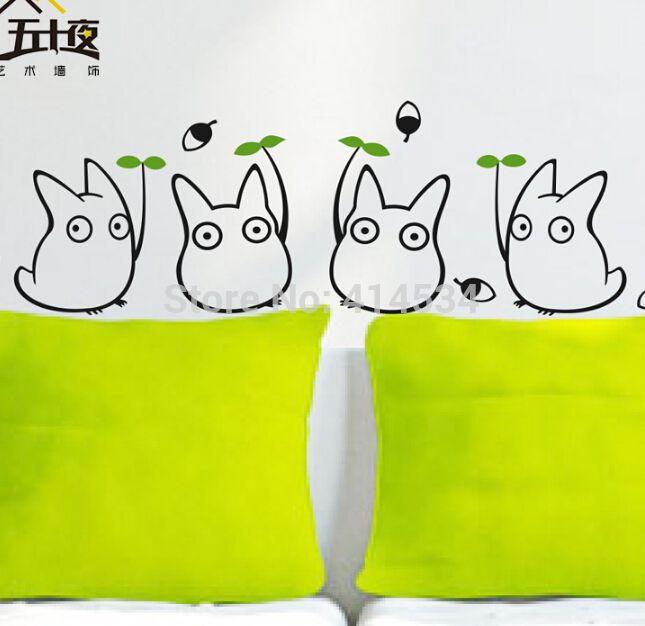 Hot! Décoratif Amovible Totoro Stickers Muraux Sticker pour La ...