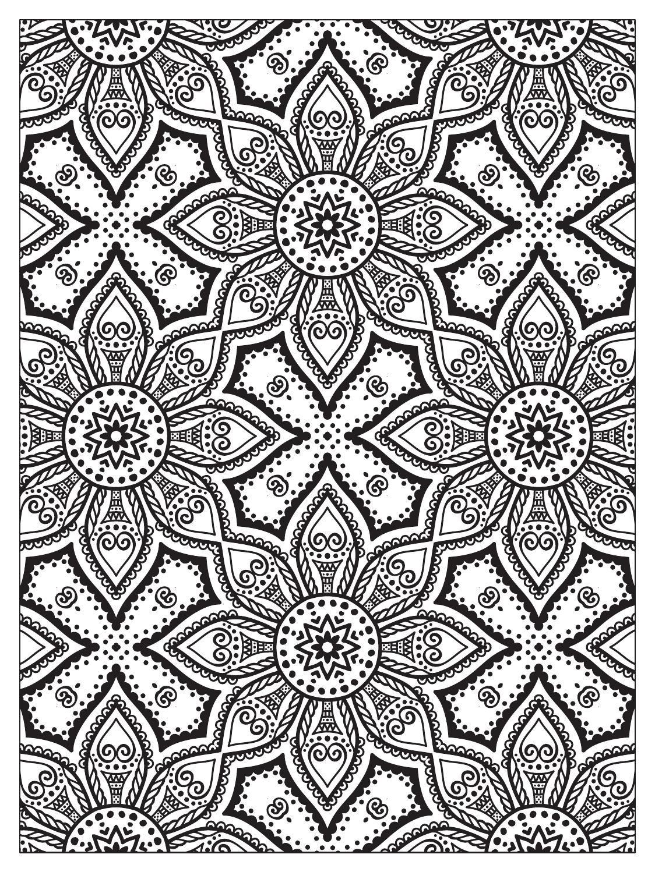 Mindfulness Mandalas Nº3   Mandala coloring pages, Pattern ...