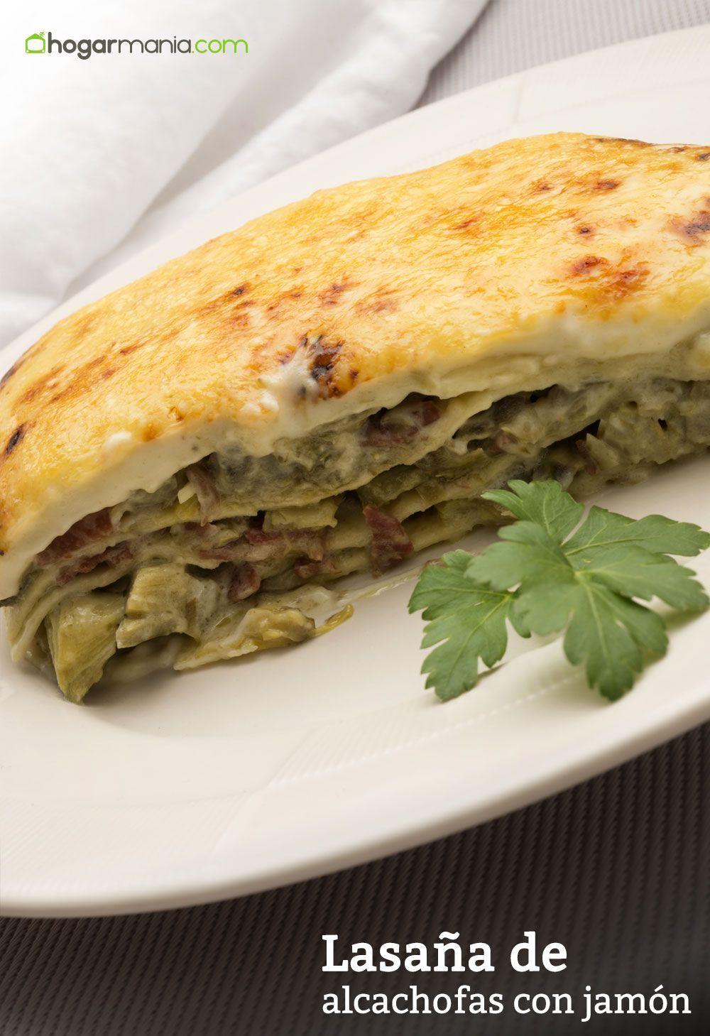Lasa a de alcachofas con jam n recetas light dietas pinterest lasa a jamon y receta - Platos de pasta sencillos ...