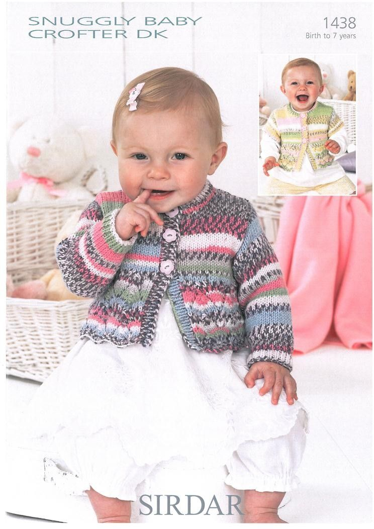 Sirdar 4575 Knitting Pattern Babies Girls Cardigan in Snuggly Baby Crofter DK