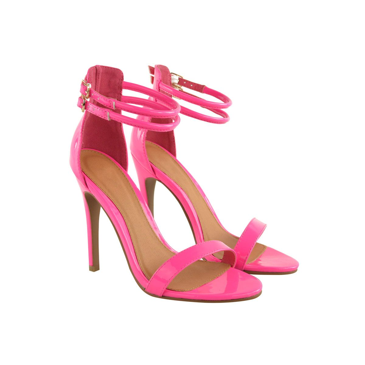 6d18a6e4bf9 neon pink strappy heels - Google Search