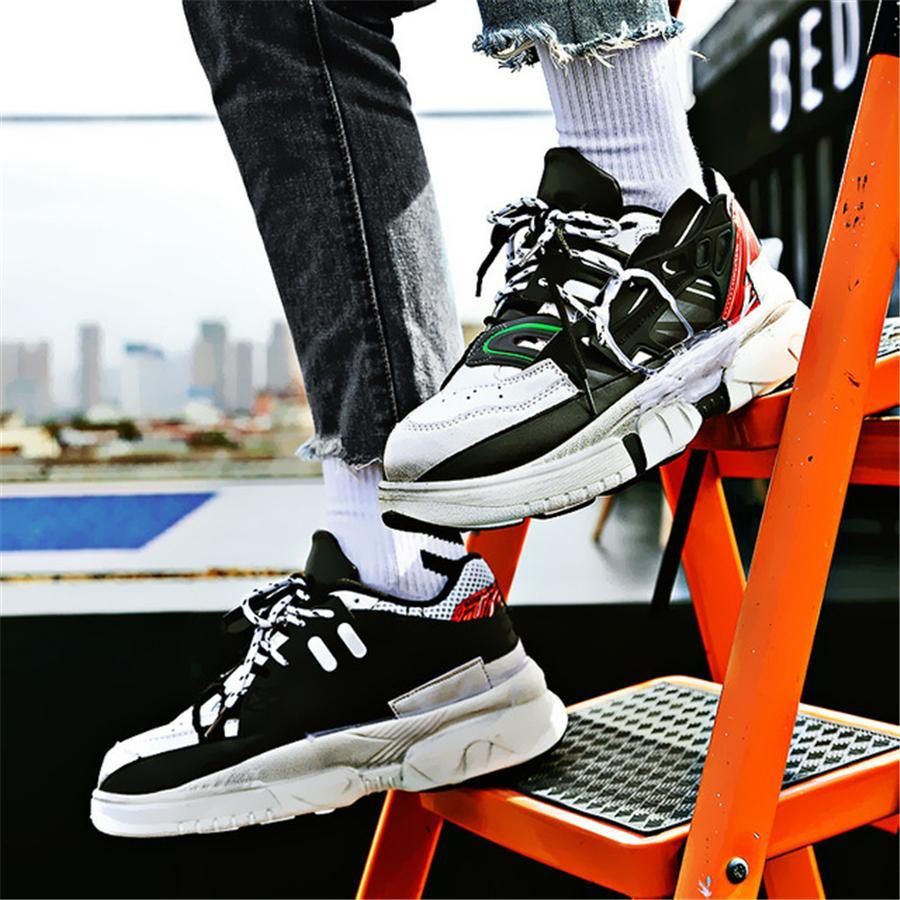 Mens Clunky Sneakers Running Sport Dad Shoes Casual Fashion retro Athletic shoes