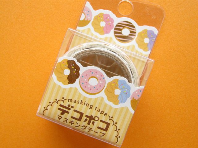 Mini Masking Tape/Deco Tape Sticker DECOPOKO *Doughnut (MDT02-10)