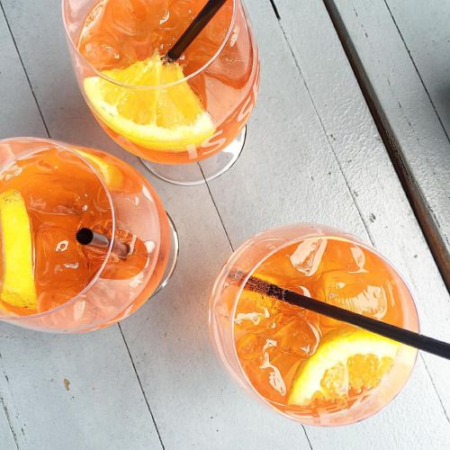 First week back: Done  #aperol #cocktails