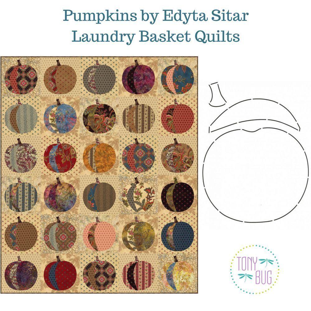 Pumpkins Applique Quilt Pattern Stencil Edyta Sitar Laundry Basket Quilts Laundry Basket Quilts Pumpkin Quilt Pattern Basket Quilt