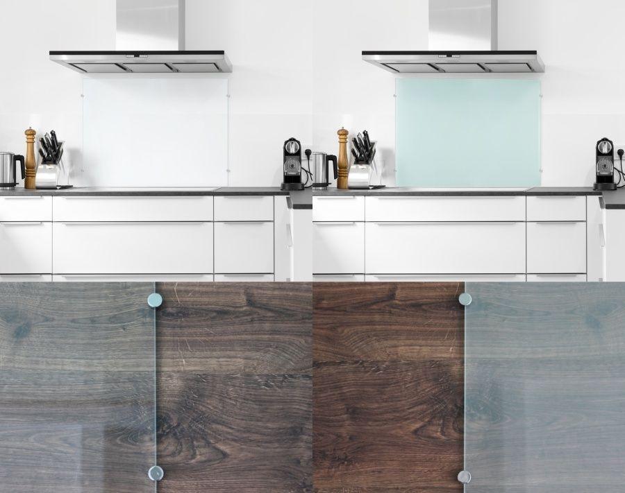 Details zu 6mm ESG Glas Küchenrückwand Spritzschutz Herd
