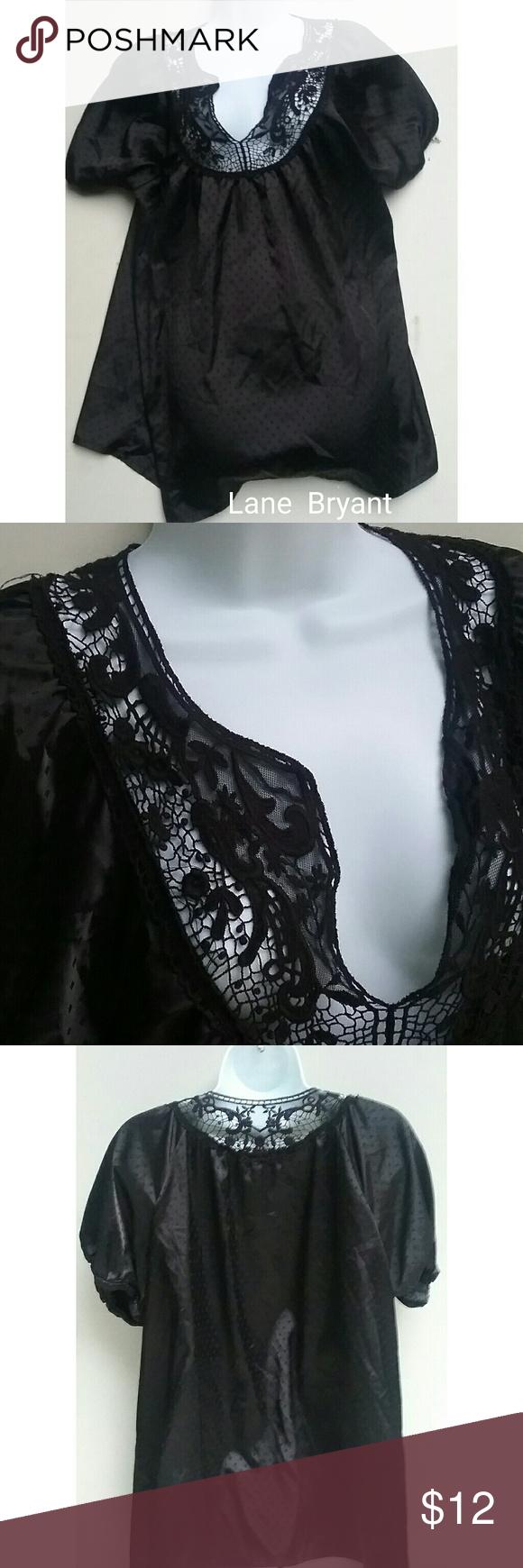 Lane bryant black lace top size diamond pattern black laces