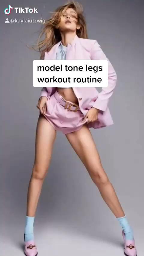 Model Tone Legs Workout & Exercises